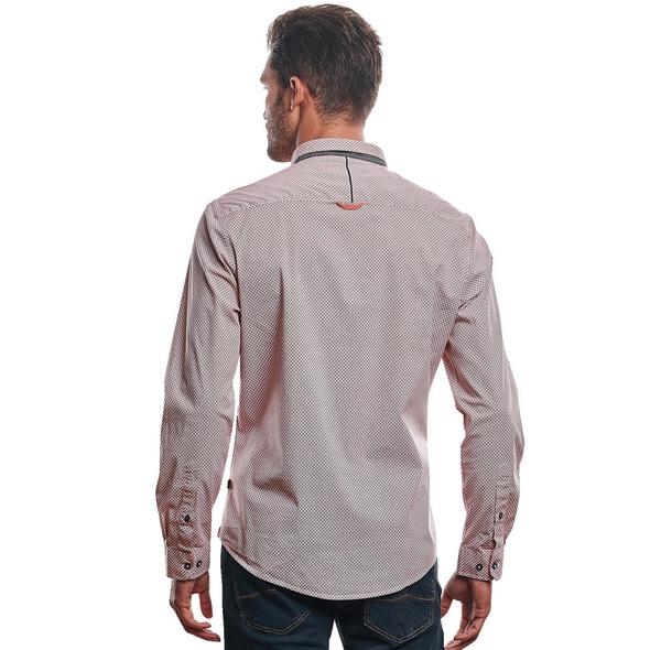 Gemustertes Langarmhemd mit Stretch