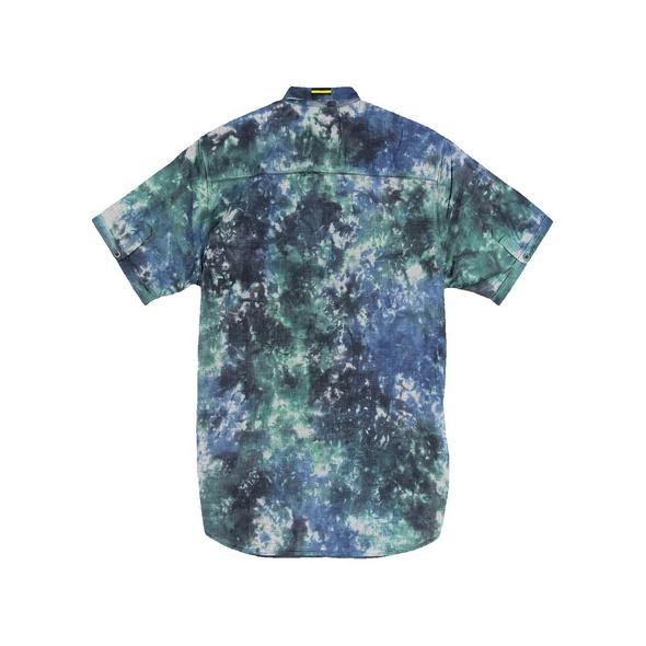 Kurzarm-Hemd-gemustert