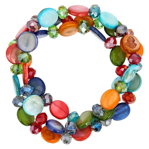 Armband-Set - Colorful Shells