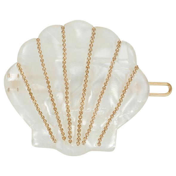 Haarspange - White Shell