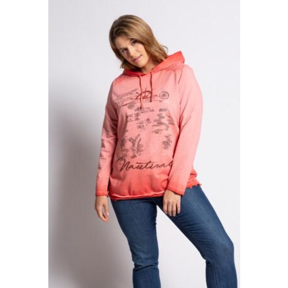 Ulla Popken Sweatshirt, Ankermotiv, Regular, cold dyed, Spitze - Große Größen