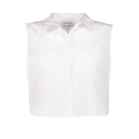 Blusenkragen zum Unterziehen, seitlicher Gummizug, Knopfleiste