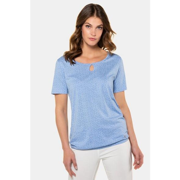 Gina Laura T-Shirt, Grafikmuster, Gummisaum, Tropfenausschnitt