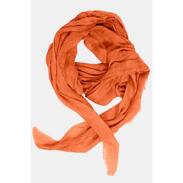 Schal, weich fließend, schräge Enden