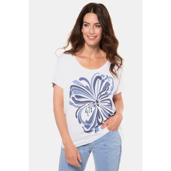 Gina Laura T-Shirt, Blütenmotiv, Oversized, Rundhalsausschnitt