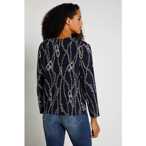 Sweatshirt, Kettenmuster, Jacquardqualität