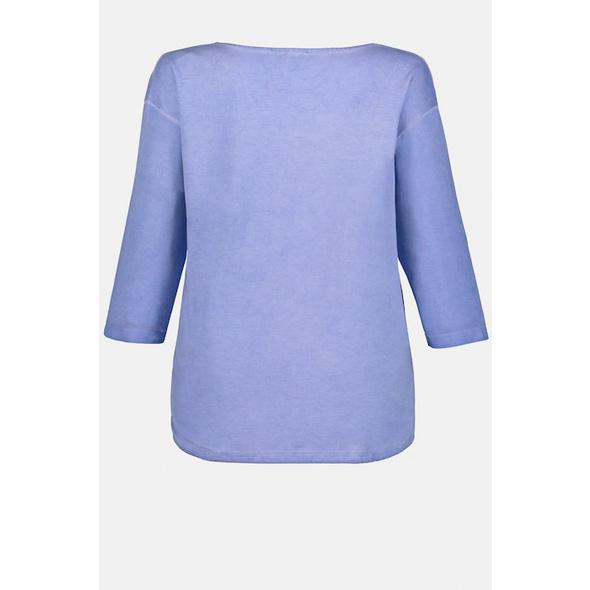 Shirt, Ringel, Blüten, Oversized, Schriftmotiv