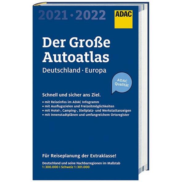ADAC Der Große AutoAtlas 2021/2022 1:300 000 -Deutschland,Österreich