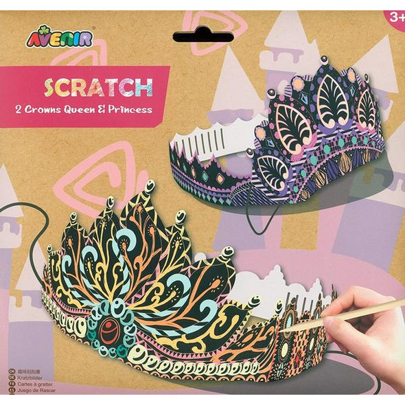 Avenir 6301451 - Scratch Crowns Queens, Kronen, Kratzbilder