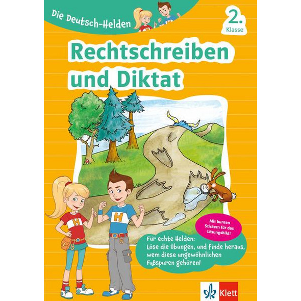 Klett Die Deutsch-Helden Rechtschreiben und Diktat 2. Klasse