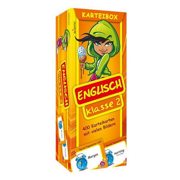 Karteibox Englisch Klasse 2