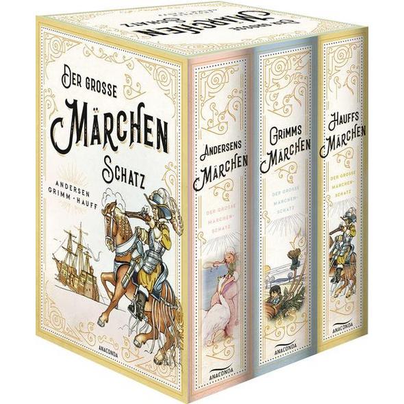 Der große Märchenschatz (Andersens Märchen - Grimms Märchen - Hauffs Märchen) (3 Bände im Schuber)