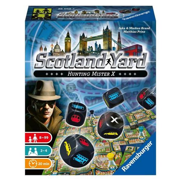 Ravensburger 26010 - Scotland Yard, Das Würfelspiel, Laufspiel, Familienspiel