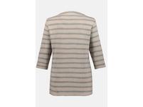 Shirt, Streifen, Stehkragen, Punto di Roma, 3/4-Arm