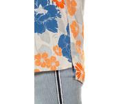 Shirtbluse, Blütenmuster, Streifen, ärmellos