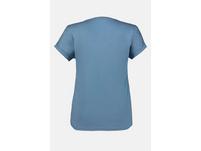 T-Shirt, Blütenmuster, lässig weit, V-Ausschnitt