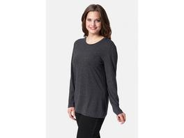 Ulla Popken Basic-Shirt, Rundhalsausschnitt, Slim, Baumwolle - Große Größen