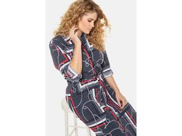 Hemdblusenkleid, Kordel-Muster, Taillenband