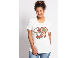 Ulla Popken T-Shirt, Snoopymotiv, Classic, reine Baumwolle - Große Größen