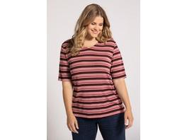 Ulla Popken T-Shirt, geringelt, Classic, reine Baumwolle - Große Größen