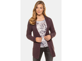 Gina Laura Cardigan, Grobstrick, offene Form, Langarm