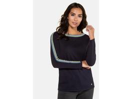 Pullover, U-Boot-Ausschnitt, Ärmelstreifen
