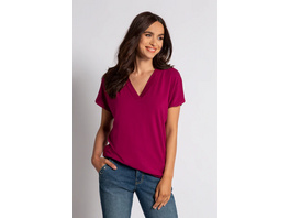Gina Laura T-Shirt, V-Ausschnitt, Viskose-Jersey